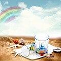 Linda Rainbow Refração Copo 480 ml, Double Rainbow Acrílico Garrafa de Água Transparente Casa Escritório Drinkware caneca de Café durável