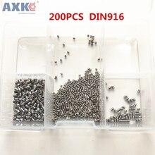 AXK 200Pcs/set Stainless Steel Wood Screws Allen Head Socket Hex Set Grub Screw Assortment Cup Point parafuso Assortment