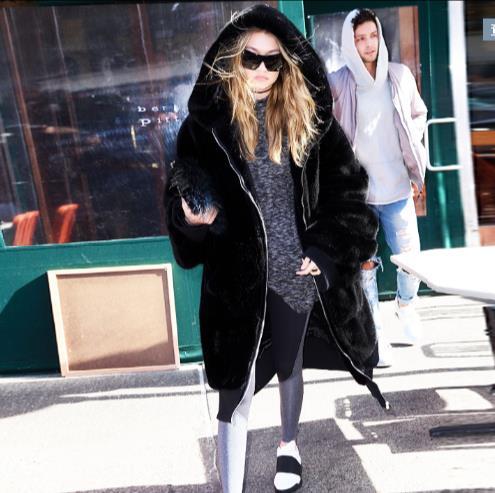 Faux Plus Outwear De Artificielle La Nouveau Chaud Femmes Manteau 2018 D'hiver Taille Veste Fourrure Furry Z284 Femme PqZFHI