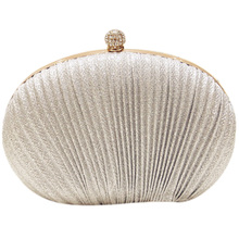NEW-Lady Diamond Evening Clutch Bag Women Wedding Shiny Handbags Bridal Pleated Purse Bags Chain Shoulder Bag xiyuan brand lady ethnic handmade gemstone diamond evening bag dinner clutch purse bridal clutch wedding chain shoulder hand bag
