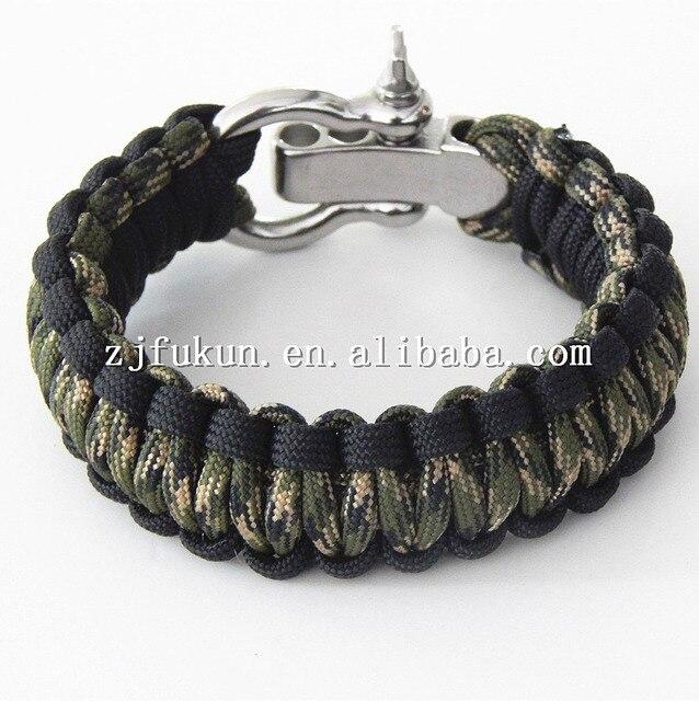 19 Colors Climbing Rope Survival Cord Bracelets For Women Outdoor Paracord Men Love Bracelet Hope