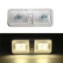 1 Uds. Luz de techo de automóvil 12V 48LED Lámpara de lectura de techo Interior de techo de plástico para RV barco yate Camper