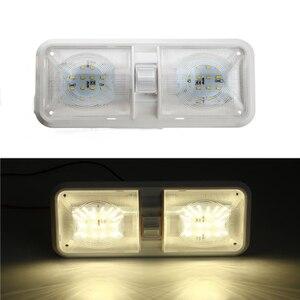 Image 1 - 1 stücke 12 v Auto Dome Licht 48LED Kunststoff Innen Dach Decke Lesen Lampe für RV Boot Yacht Camper
