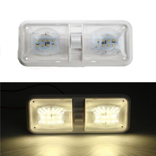 1 stücke 12 v Auto Dome Licht 48LED Kunststoff Innen Dach Decke Lesen Lampe für RV Boot Yacht Camper