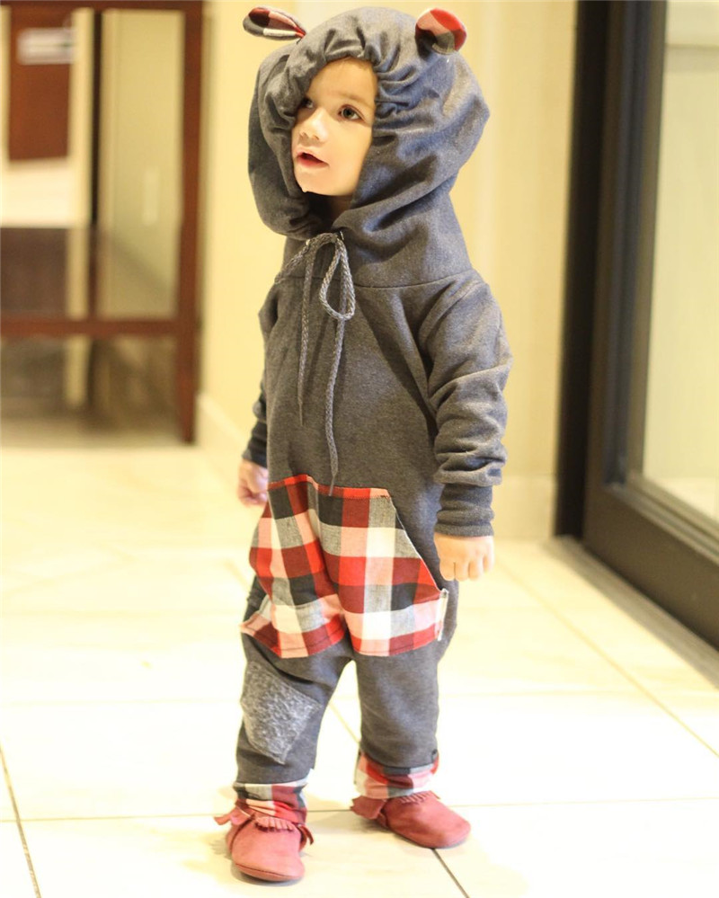 Pudcoco Baby Rompers Newborn Baby Clothes Infant Bebes Boys Girls Romper Hooded Jumpsuit One Pieces Outfits Cotton Costume 2018