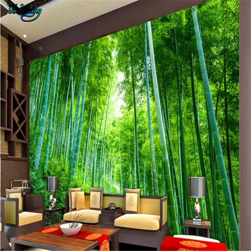 Beibehang custom non woven wallpaper wall murals bamboo for Bamboo mural wallpaper