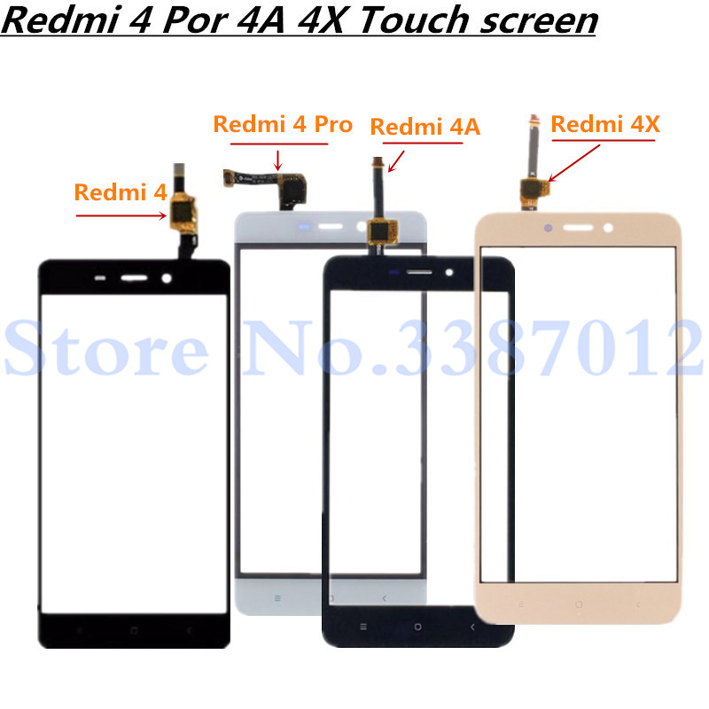 5.0'' Replacement High Quality For Xiaomi Redmi 4 4 Pro 4A 4X Touch Screen Digitizer Sensor Outer Glass Lens Panel