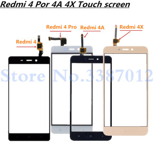 Image 1 - 5.0 Vervanging Hoge Kwaliteit Voor Xiaomi Redmi 4 4 Pro 4A 4X Touch Screen Digitizer Sensor Outer Glas Lens panel