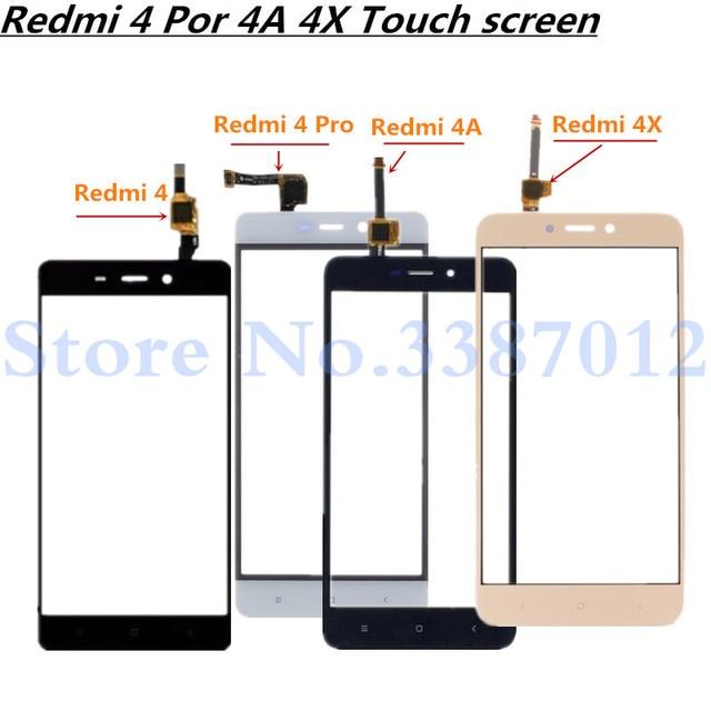 Panel de cristal exterior para Xiaomi Redmi 4 4 Pro 4A 4X, repuesto de 5,0 pulgadas, Sensor de Digitalizador de pantalla táctil