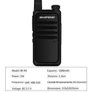 Image 3 - Walkie Talkie baofeng bf r5 mini Kids two way radio uhf radio Portable 2W Toy Communicator BF R5 FM Radio HF Transceiver Ham cb