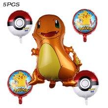 Cartoon Pikachu Pokemon Go Jenny Turtle Helium Foil Balloons Children birthday party decoration kids Baby Shower supplies