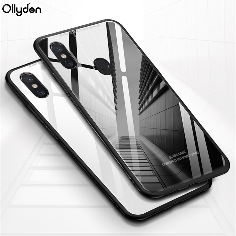For OPPO Realme 3 Case Luxury Glossy Tempered Glass