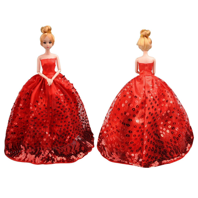 Saleaman precioso vestido de novia hecho a medida para la muñeca - Muñecas y accesorios - foto 2