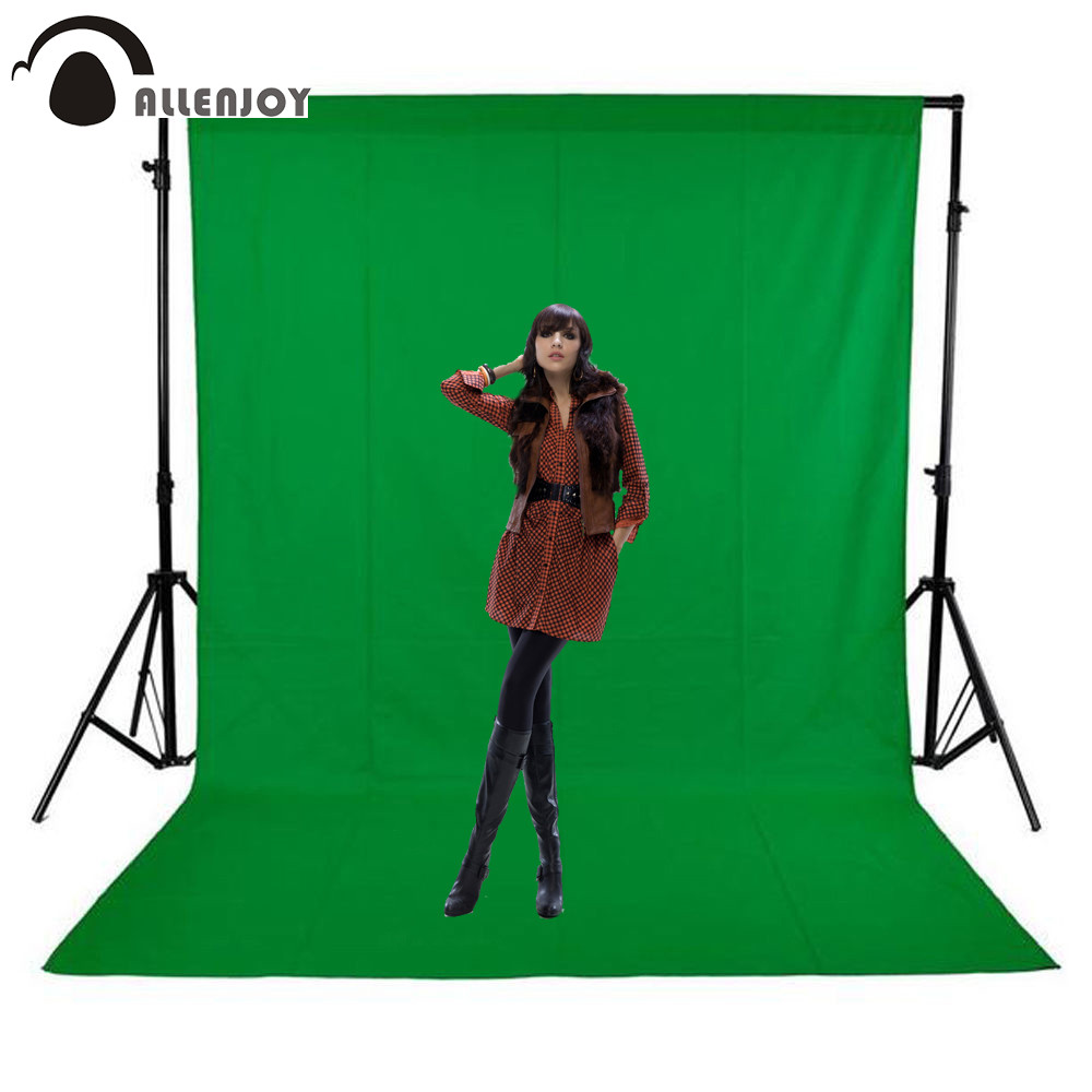 Allenjoy photography backdrops Green screen hromakey background chromakey non-woven fabric Professional for Photo Studio ashanks photography backdrops background cloth 1 8m x 2 8m white chromakey screen for photo studio porta retrato