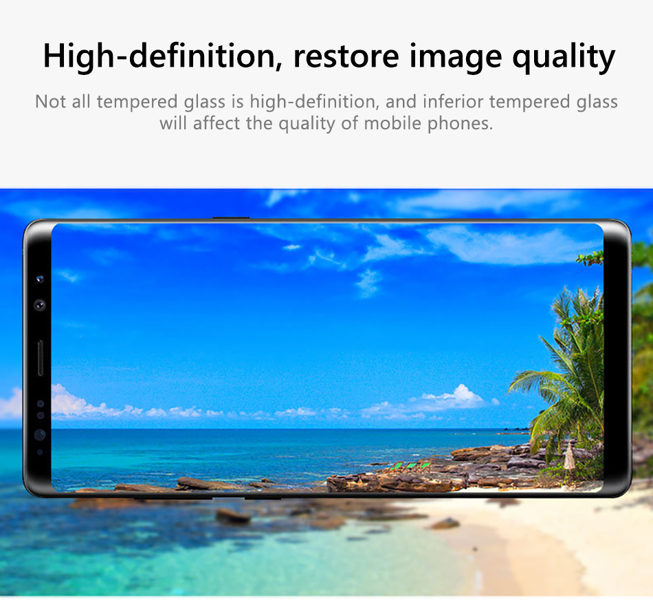 !ACCEZZ Curved Coverage Tempered Glass Film For Samsung S8 S9 Plus Note 8 Anti-fingerprint Protector Screen Front Clear Films (3)