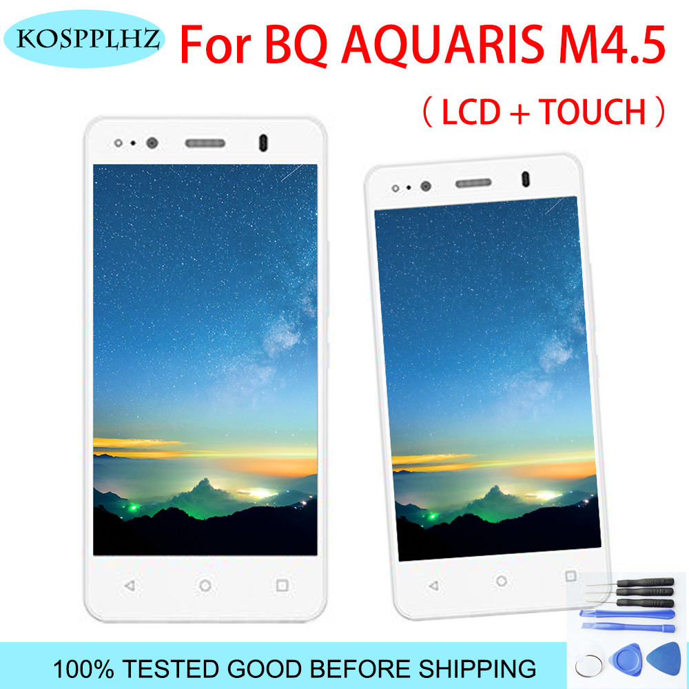 <font><b>4.5</b></font> <font><b>inch</b></font> Top Quality replacement for BQ Aquaris M4.5 <font><b>LCD</b></font> Display+<font><b>Touch</b></font> Screen Assembly for BQ m4.5 <font><b>with</b></font> free tools image