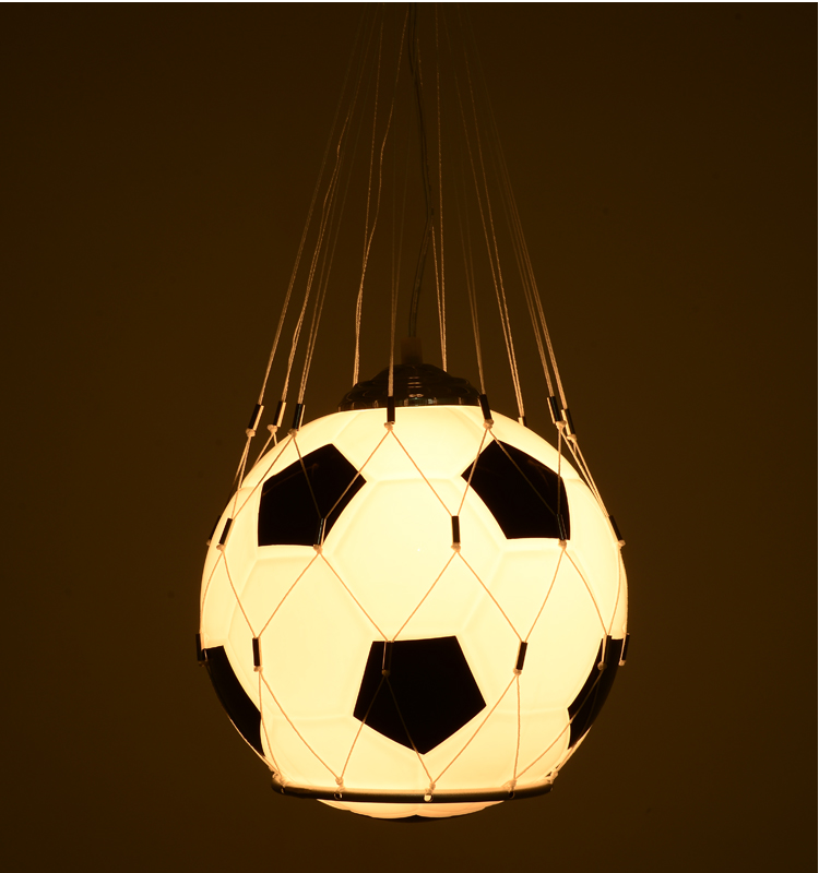 ФОТО LED Pendant Lights Luminaria Football Lamp In Kids'Room Living Room Rining Room 30W E27 DALLAST