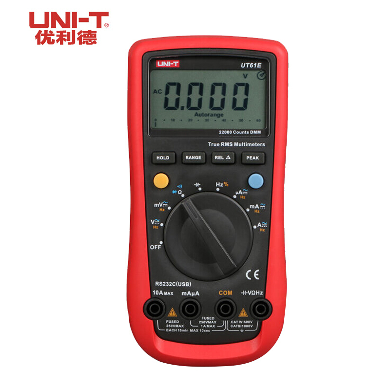 UNI-T UT61E High Reliability Digital Multimeter Digital Multimeters AC DC Meter CD & Data Hold Multitester  Voltage Tester uni t ut30c original authentic data handed hold digital multimeters temperature test