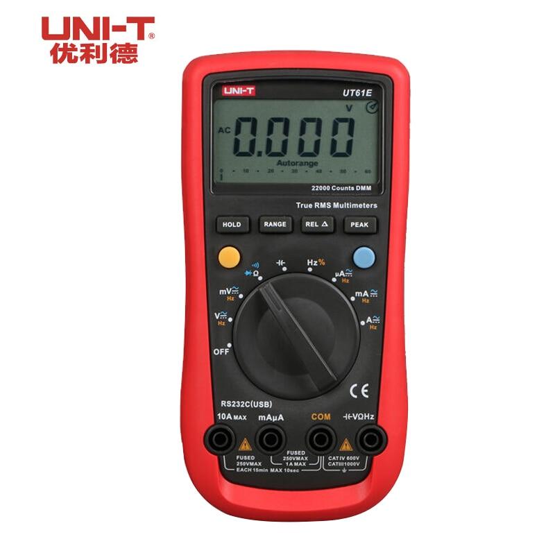 UNI-T UT61E High Reliability Digital Multimeter Digital Multimeters AC DC Meter CD & Data Hold Multitester  Voltage Tester uni t ut60b modern auto ranging data hold dmm digital multimeters w capacitance