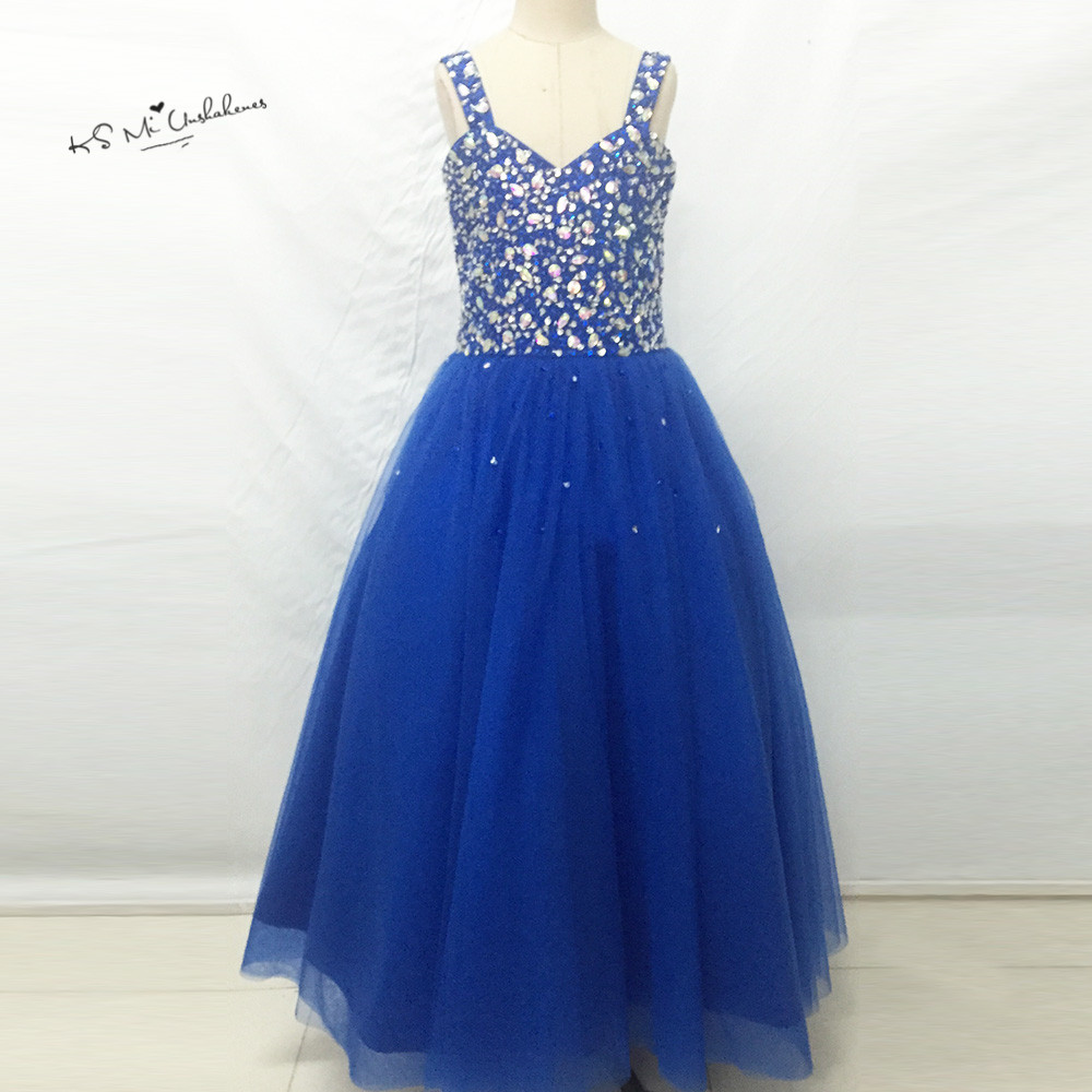 Royal blue bridesmaid dresses for girls reviews online shopping vestidos infantis royal blue junior bridesmaid dresses ball gown flower girl dress crystal lace up child brithday prom gowns ombrellifo Images