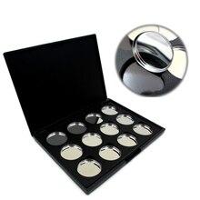 12X Empty Magnetic Eyeshadow Pigment Removable Aluminum Palette Pans Makeup 26mm