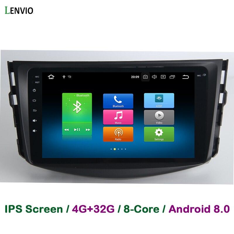 Lenvio 4G RAM 32G ROM Восьмиядерный Android 8,0 автомобиль DVD gps навигации плеер для Toyota RAV 4 RAV4 2009 2010 2011 2012 радио BT ips