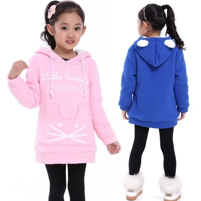 WEONEDREAM New Winter Girls Sweatshirts Long Sleeves Thick Warm Fleece  Children Clothing Kids Cat Supreme Hoodies Outerwear,in Hoodies \u0026  Sweatshirts from