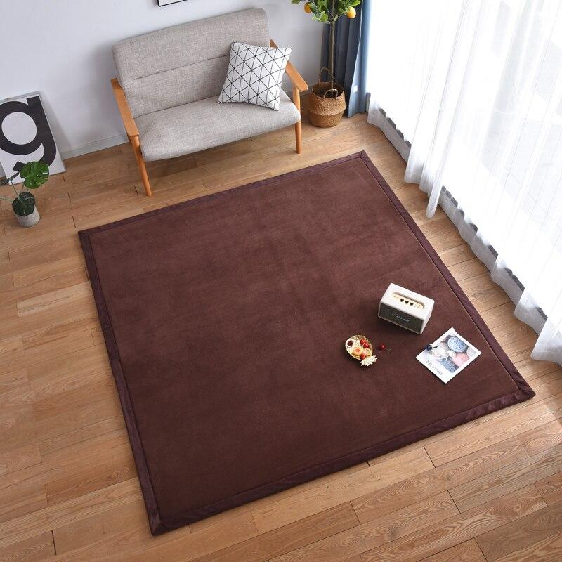 Nouveauté tapis épais en molleton de corail tapis d'épaississement de salon tapis de chambre enfants tapis rampant tapis de fond de tente en plein air