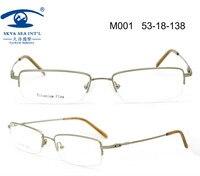 Free Shipping New Metal Material Monel With Memory Flexible Half Rim High Quality Mens Eyeglass Frames