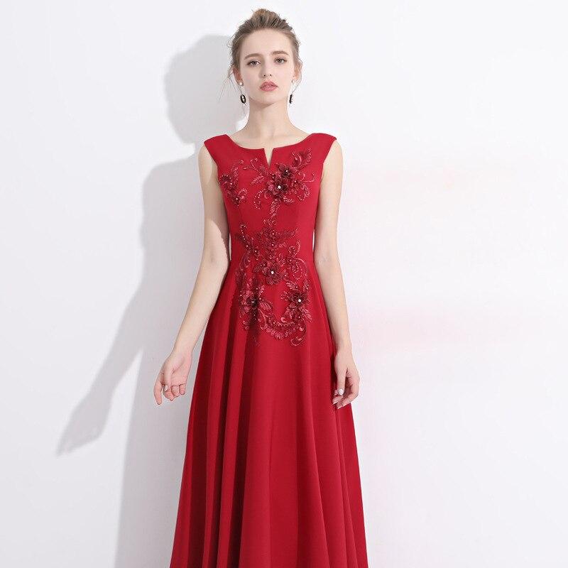 V Banquet Pour Red Fiesta Taille Belle Applique Longue Rouge cou Femmes De Haute Partie Robes Plissée Robe RxHUwnq