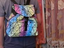 Новинка 2017 года BAOBAO световой рюкзаки женская мода девушка Ежедневно Рюкзак Геометрия Упаковка пайетки складные сумки Bao школьные сумки