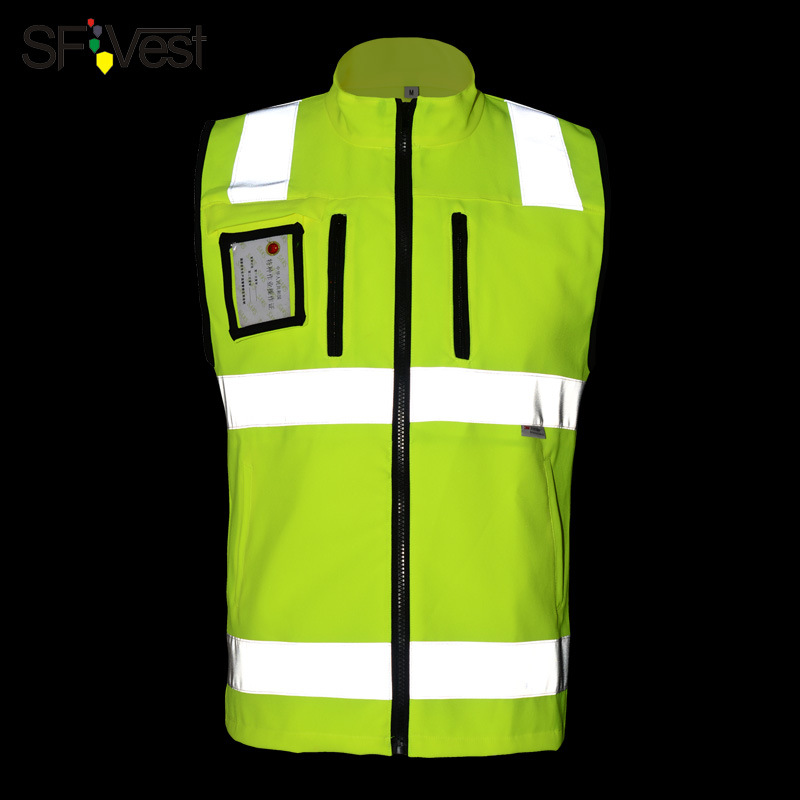 цена на SFVEST HIGH VISIBILITY REFLECTIVE WAISTCOAT ELASTIC OXFORD 3M SCOTCHLITE TAPES WORKING VEST WITH ID POCKETS MENS FREE DELIVERY