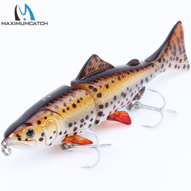 Maximumcatch Hard Bait 1Pcs 3 Jointed Section Swimbait Fishing Lures Hard Fishing Lures With VMC Hooks Crankbait Artificial Bait