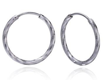 Fashion 18K gold Hoop Earrings Women Jewelry Silver Earrings Jewelry Round Circle Loop earrings Diamond Cut Earrings Zk30
