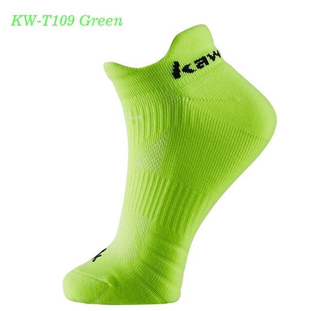 KAWASAKI Branded Men Sports Socks for Basketball Cycling Running Breathable Cotton Socks KW-T109