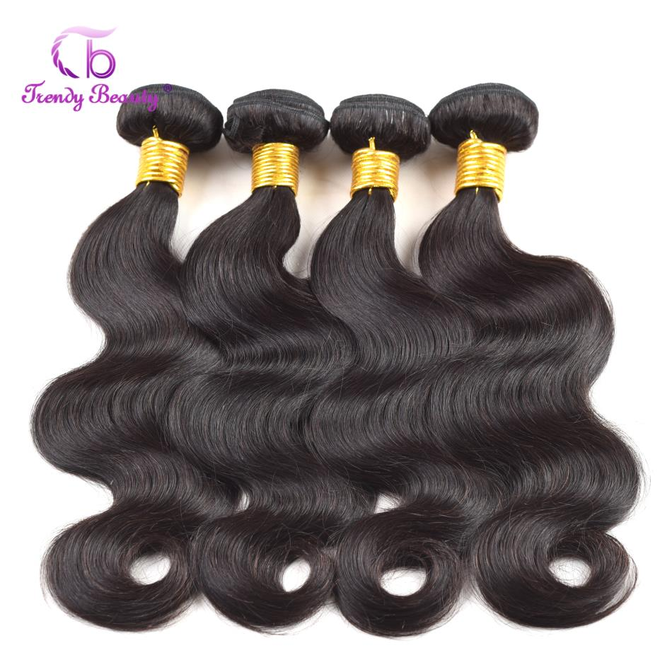 Brazilian body wave hair 4 pcs per lot 8 26 inches 100 Remy hair color 1b