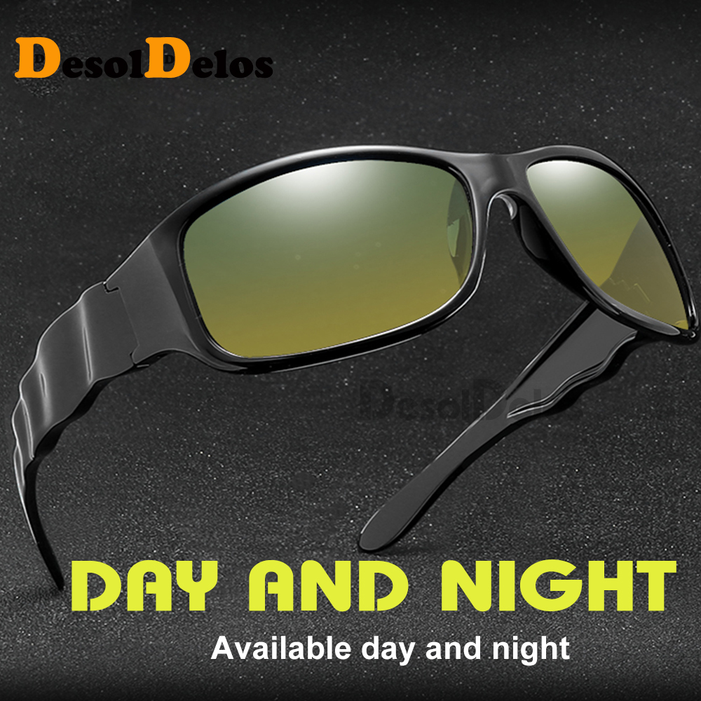 Men Day Night Polarized Sunglasses Classic Driver Goggles Reduce Glare Vintage Leisure Cool Eyewear gozluk male Lunettes in Men 39 s Sunglasses from Apparel Accessories