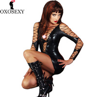 New Bandage Leather Women Sexy Lingerie Hot Pole Dance Erotic Lingerie Babydoll Sexy Underwear Sexy Costumes
