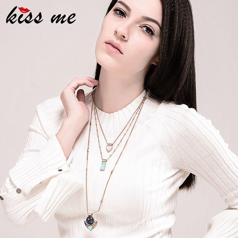 KISS ME brändi sünteetilised kaelakeed ja ripatsid Fashion Jewelry - Mood ehteid - Foto 2