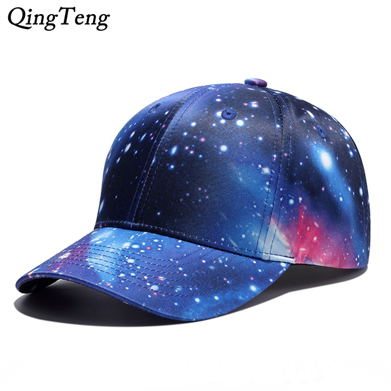 Us 7 0 30 Off Cool Swag Space Star Graffiti Printed Starry Sky Baseball Caps Adjustable Casual Boys Girls Snapback Hat Brand Hip Hop Bone In Men S