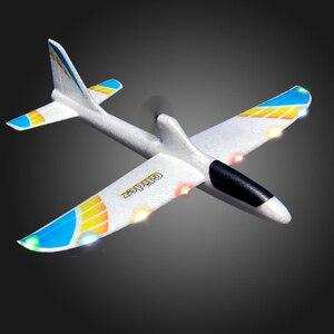 Image 5 - RC samoloty USB ładowania elektryczne ręcznie rzucanie szybowiec DIY Model samolotu ręcznie uruchomienie rzucanie szybowiec zabawki dla dzieci 2