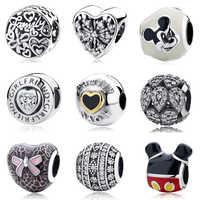 Diy joyería que hace la pulsera de mujer se ajusta a los encantos de Pandora cuentas de plata de ley 925 Original Regalos Bisuteria kraien Voor sirenen