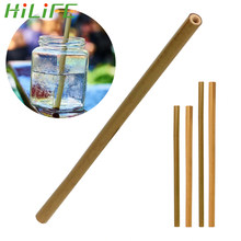 HILIFE Barware Tableware Wood Straws Natural Organic Bamboo Bar Accessories Drinking Straws Biodegradable Kitchen Tools(China)