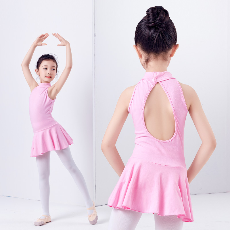 new-arrival-cotton-turtleneck-open-back-font-b-ballet-b-font-dress-kids-children-gymnastics-dance-leotard-girls-ballerina-clothes
