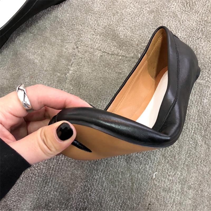 Véritable Mujer Femmes 2018 Chaussures Date Noir Casual Piste Orteils Zapatos Cuir Split Pour rouge Femme Plates En Dehors EOqpwUZxO