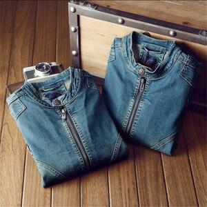 Image 5 - Giacca di Denim di cotone Degli Uomini di Casual Jeans Giubbotti Più Il Formato Mens di Alta Qualità Dellannata Del Denim Cappotti di Modo di Autunno Uomo Abbigliamento A1549
