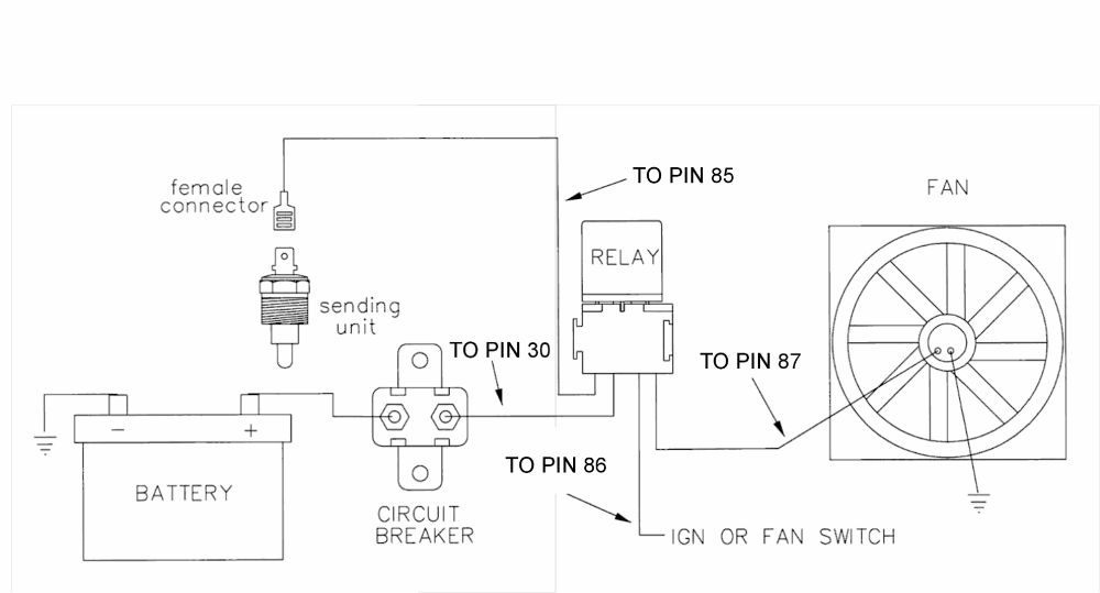 wiring dual electric fans