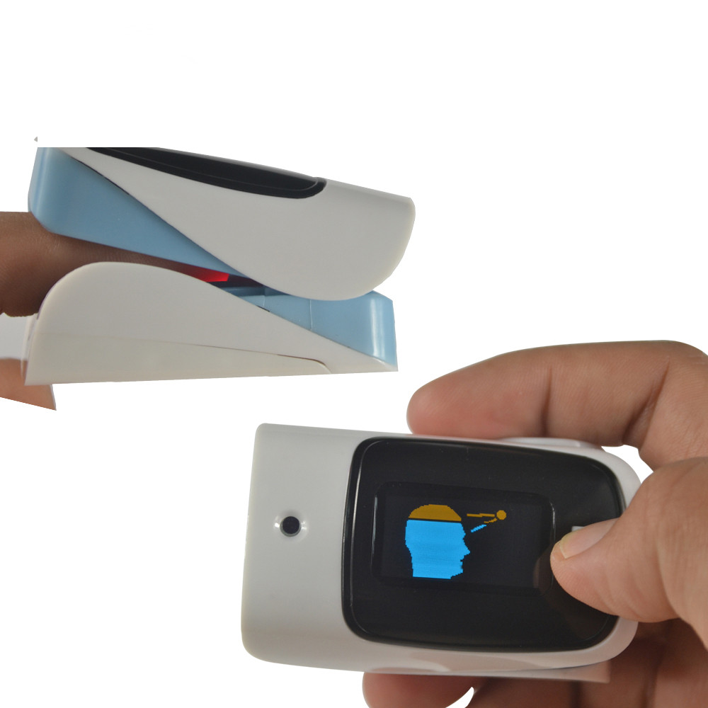 Fingertip pulse oximeter with infrared thermometer spo2 oximetro heart monitor digital Display Finger non contact pulsometro