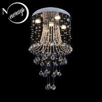 Кристалл Современные империи традиционных Лофт люстра с GU10 4 огни для спальни гостиная лобби Ресторан зал офис