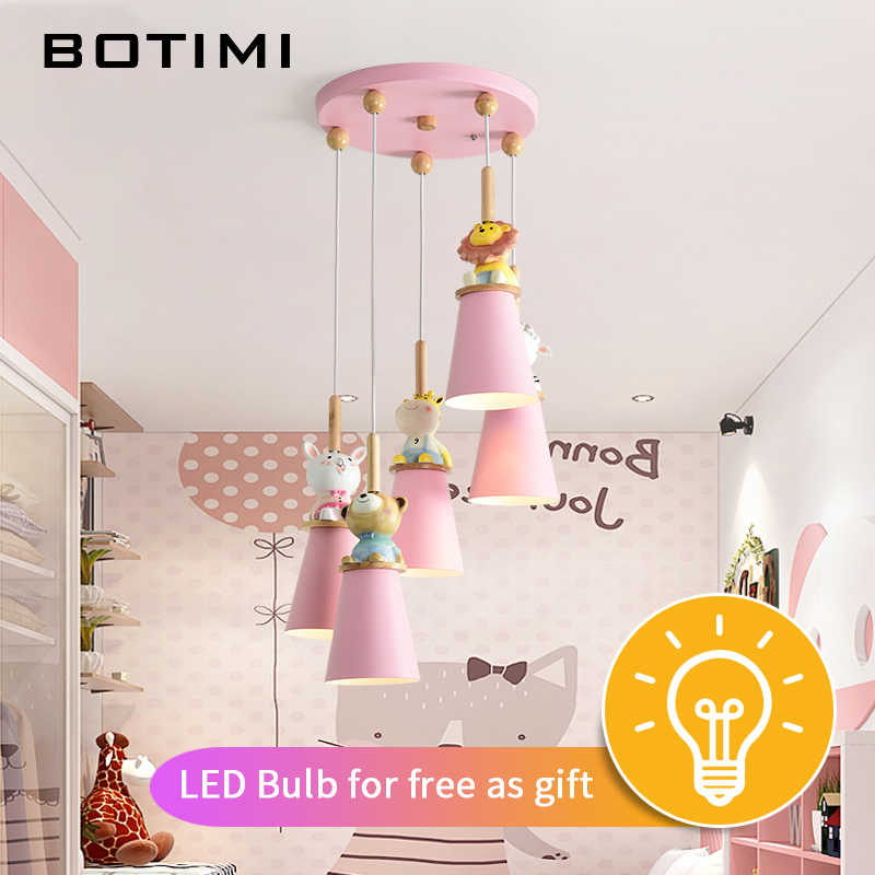 Detail Feedback Questions About Botimi Led Pendant Lights For Kids Room Pink Children Lamp Cartoon Lighting Fixture S Hanging Luminaire Baby Re